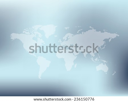 Map of the world,clean vector - stock vector