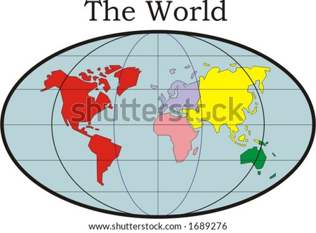 map of the world - vector illustration - stock vector