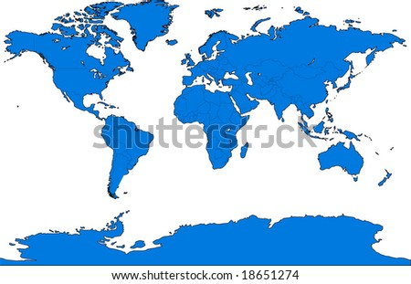 Map of the world- vector illustration - stock vector
