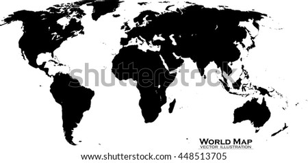 Map World Vector Illustration Stock Vector 448513705 Shutterstock