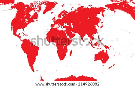 Map Of The World. Vector Illustration. EPS10 - stock vector