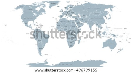 Map world national borders country names vectores en stock 496799155 map of the world with national borders and country names robinson projection english labeling gumiabroncs Gallery