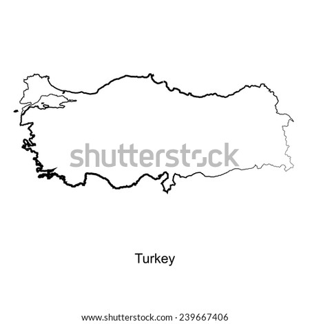 Map of Turkey for your design, concept Illustration. - stock vector