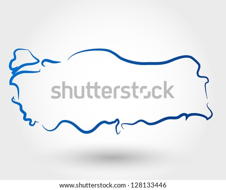 map of turkey. map concept - stock vector