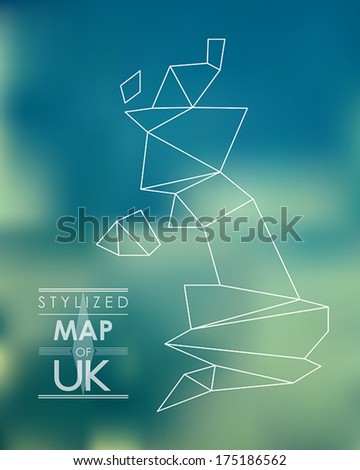 map of uk. map concept - stock vector