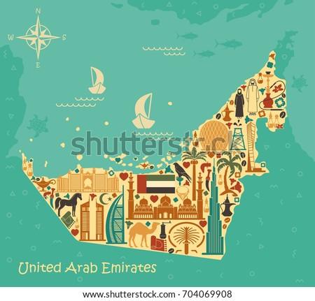 Map United Arab Emirat...