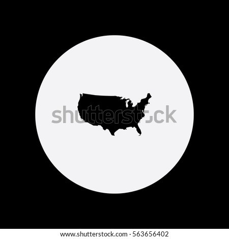 Usa Map On Location Pin Map Stock Vector Shutterstock - The great cauldron us map