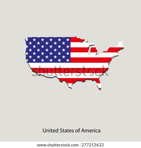 Map of USA  for your design, concept Illustration.
