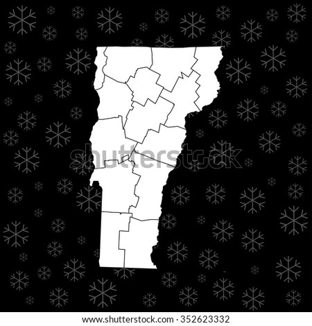 map of Vermont - stock vector