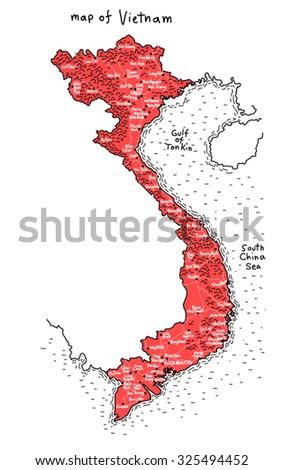 map of Vietnam vector - stock vector