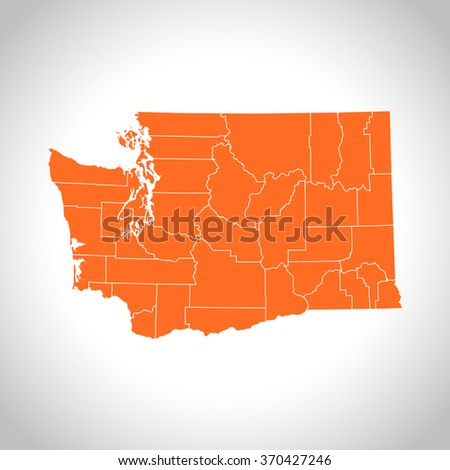 map of Washington - stock vector