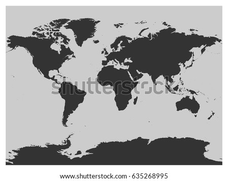 Map world dark grey vector silhouette stock vector 635268995 map of world dark grey vector silhouette high detailed map on light background gumiabroncs Images