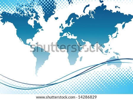 Map of world. Vector illustration - stock vector