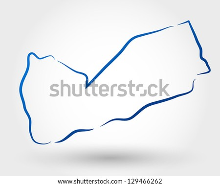 map of yemen. map concept - stock vector