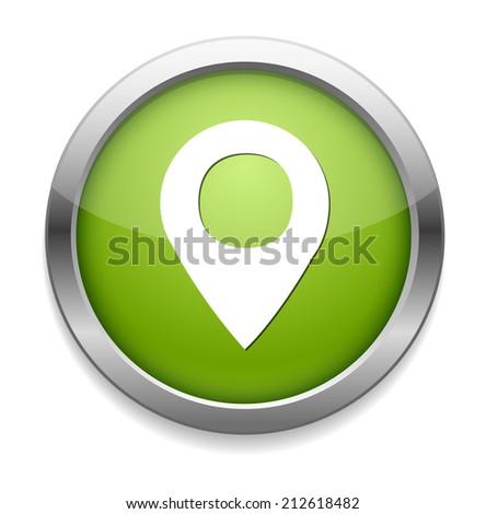 map pin button - stock vector