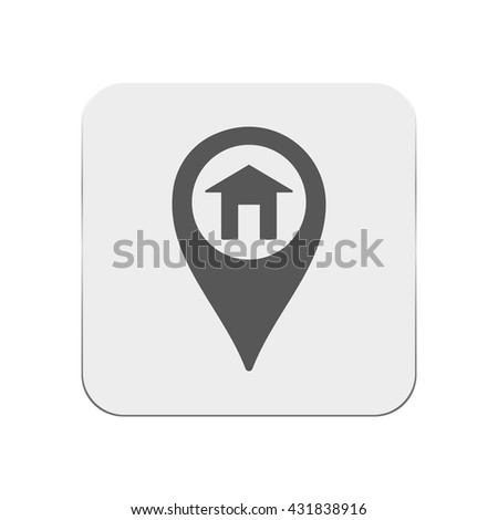 Map pin home icon
