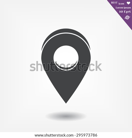 Map pointer flat icon. Vector  Eps 10  - stock vector