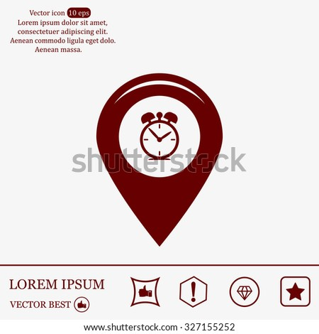 Map pointer flat icon. Vector Eps 10 - stock vector