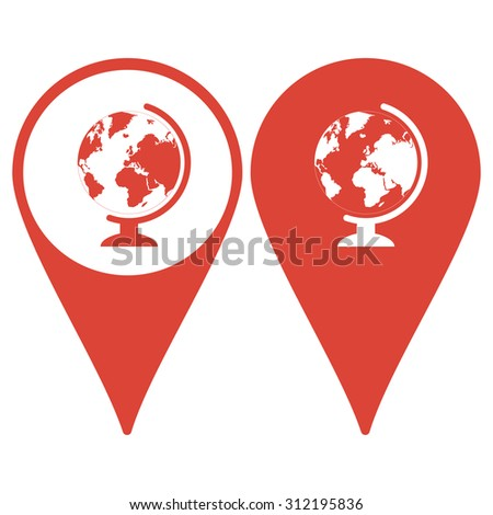 Map pointer. geography school earth globe web icon. vector illustration - stock vector