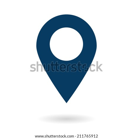 Map pointer icon. GPS location symbol. Flat design style. Vektor EPS 10. - stock vector