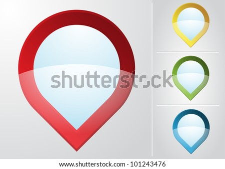 Map pointer icon. Vector - stock vector