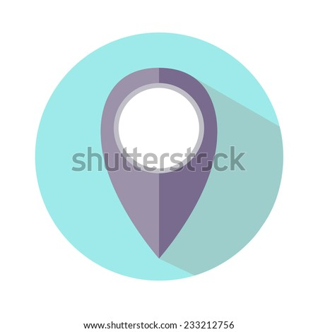 map pointer icon. vector illustration - stock vector