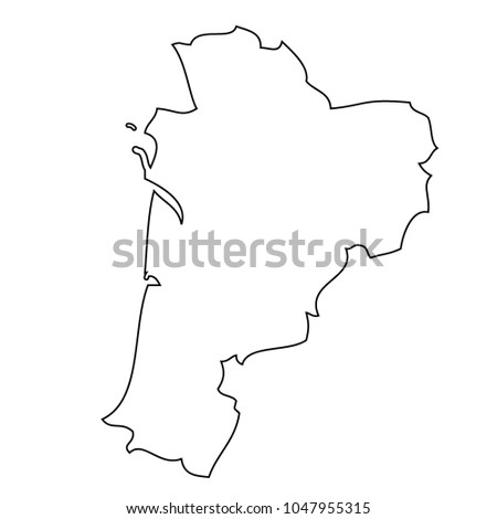 Map Region France Nouvelleaquitaine Vector Stock Vector 1047955315