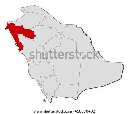 Map Saudi Arabia Tabuk Stock Vector 418870402 Shutterstock