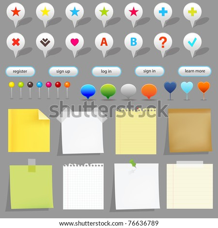 Map Set, Isolated On White Background, Vector Illustration - stock vector