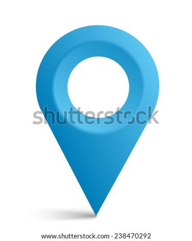 Map symbol, map pointer, vector icon - stock vector