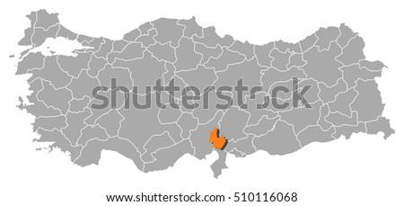 Map Turkey Osmaniye Stock Vector 510116068 Shutterstock