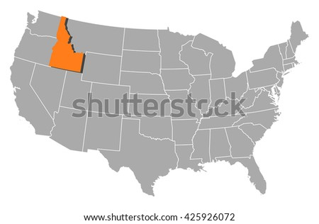 Map United States South Dakota Stock Vector 425925376 Shutterstock