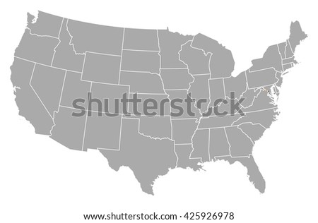 Map United States Washington Dc Stock Vector Shutterstock - Us map with dc