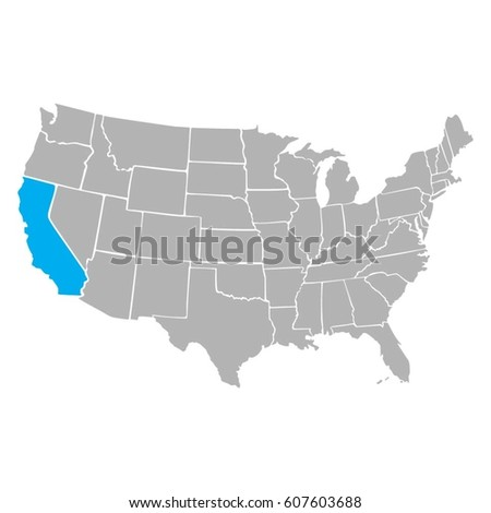 map usa state vector