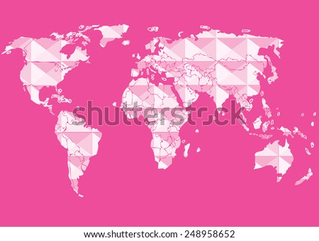 Map vector graphic background - stock vector