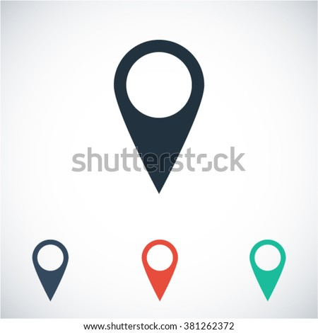 Map vector icon - stock vector