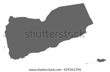 Map - Yemen - stock vector