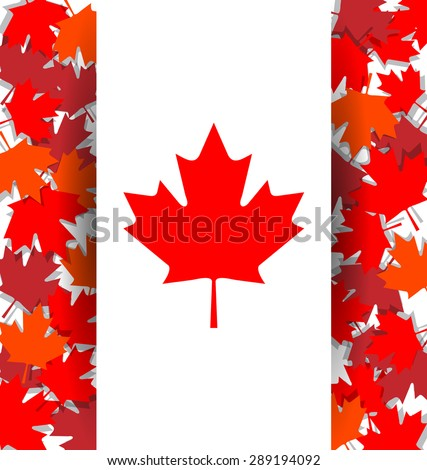 Maple Leaf background for celebrate the national day of Canada - stock vector