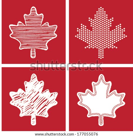 Maple Leaf Icon - stock vector