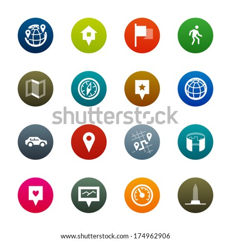 Maps and navigation icons. Professional vector icons for your website, application and presentation. - stock vector