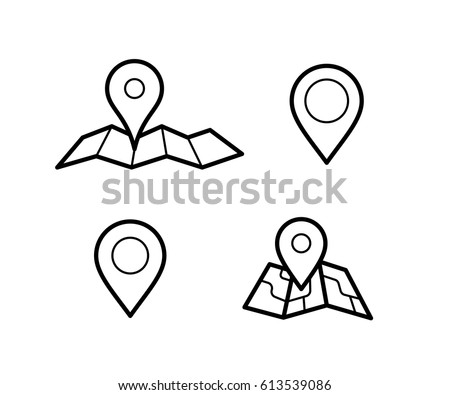 Maps Pins Vector Icons Make Your Stock Vector 613751699 - Shutterstock