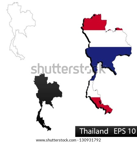 World map countries outline vector awesome graphic library world map countries outline vector images gallery maps thailand 3 dimensional flag clipped stock vector hd royalty rh shutterstock com gumiabroncs Choice Image