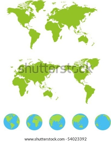 maps set - stock vector