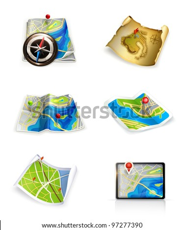 Maps, vector set - stock vector