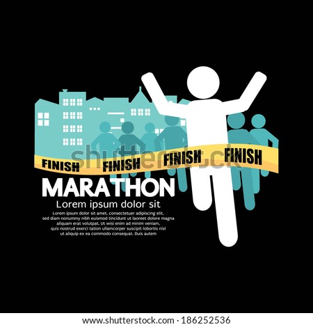 Marathon Vector Illustration - stock vector