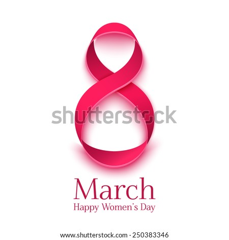March 8 greeting card. Background template for  International Womans Day. Vector illustration - stock vector