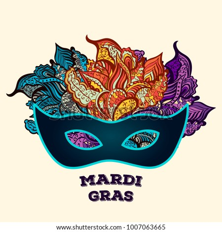 Mardi gras brochure carnival fat tuesday stock vector 1007063665 mardi gras brochure carnival fat tuesday mask greeting card with on traditional colors m4hsunfo