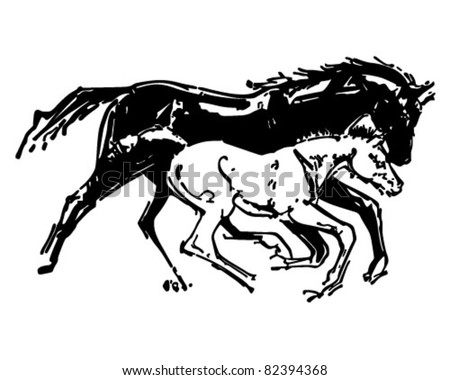 Colt horse stock photos images pictures shutterstock for Clipart mare