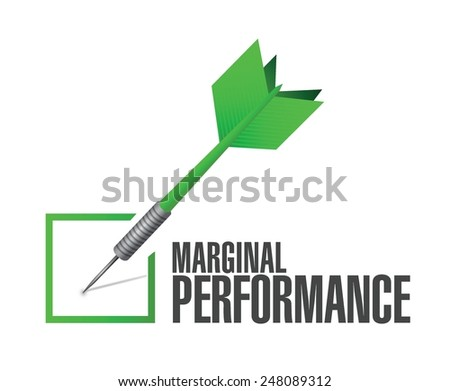 marginal performance check dart illustration design over a white background - stock vector