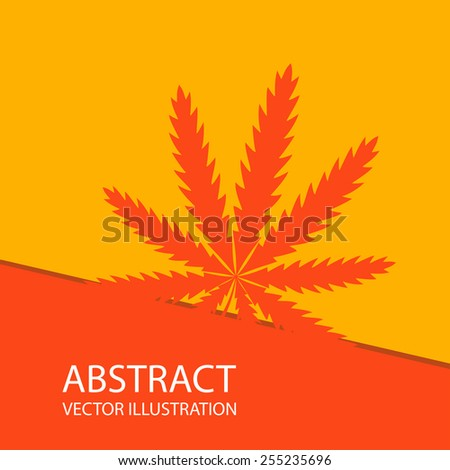 marijuana abstract - stock vector